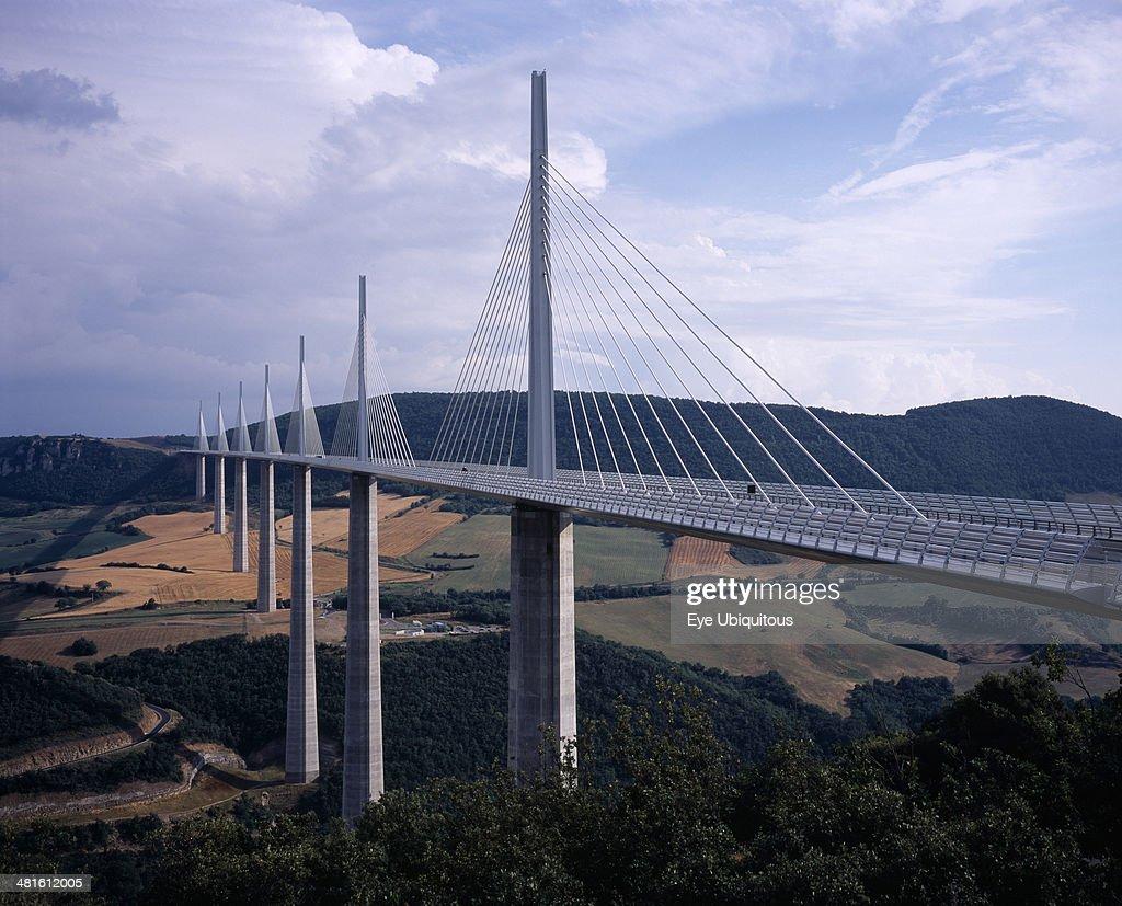 Millau bridge which spans the Tarn River Valley