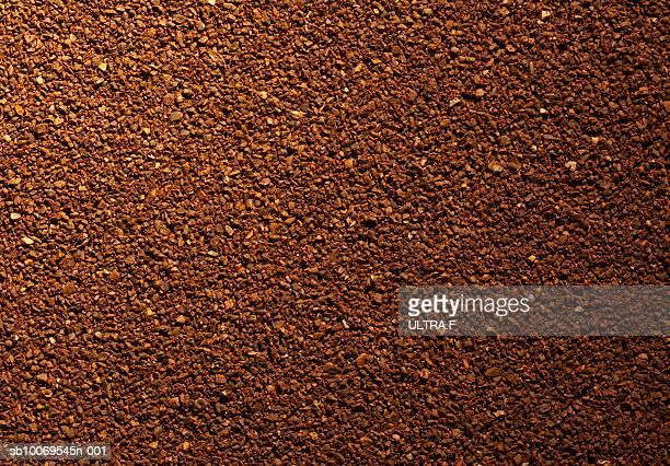 Milled coffee, full frame
