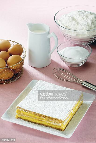 Millefeuille with custard
