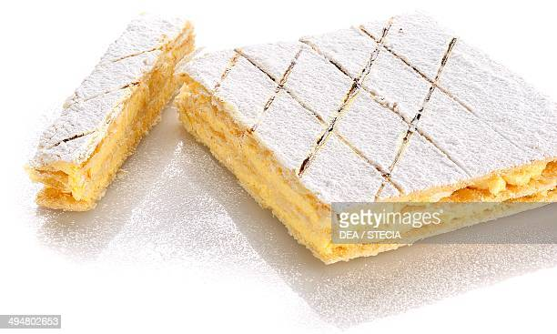 Millefeuille with zabaglione