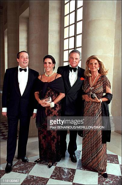 Millenium book launching party in Versailles Castle in Versailles France on June 27 2001 Prince Michel de France Prince Eudes of Orleans and Bragance...