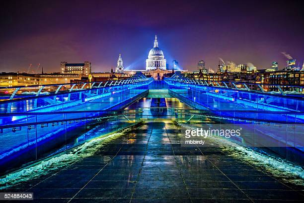 Millenium bridge and St. Paul's cathedral, London