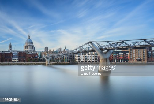 Millenium Bridge and St Paul's Cathedral