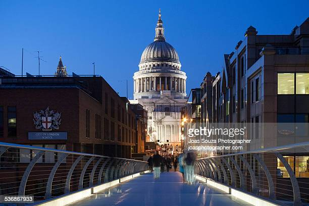 Millenium Bridge towards St Paul Cathedral