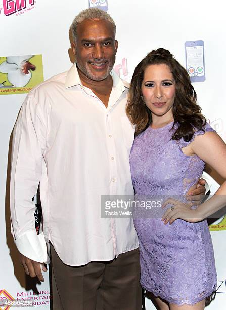 Millennia Scope Entertainment Foundation CEO Shahid Manning and actress/Liv Out Loud creator Ashley Gianni arrives at Premiere Party For 'Liv Out...