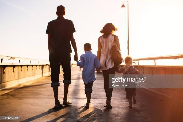 Millennial Family At the Beach