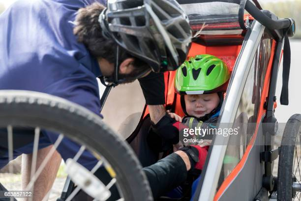 Millennial Parents Father Biking with Toddler