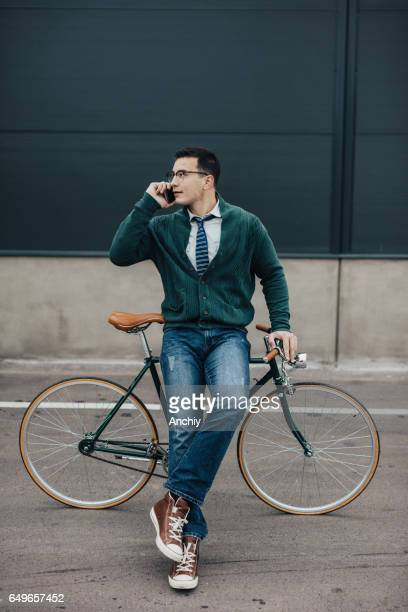Millennial person talking on the mobile phone