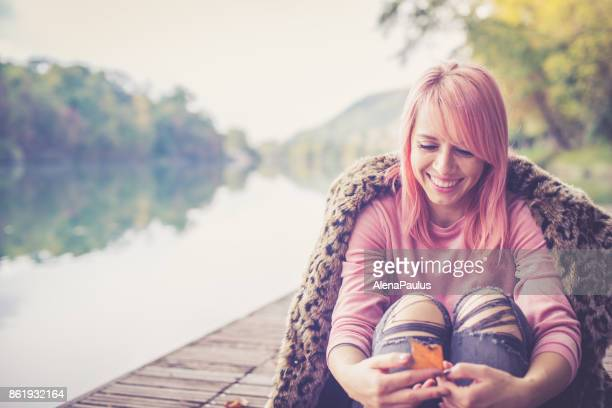 Millennial Pink Young Woman
