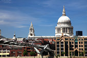 Millennium Bridge and St. Pauls Cathedral