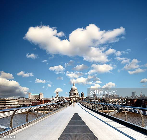 Millennium Bridge And St Paul's Cathedral