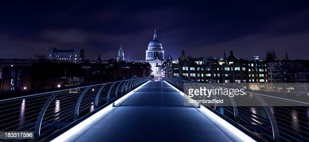Millennium Bridge & St Paul's At Night