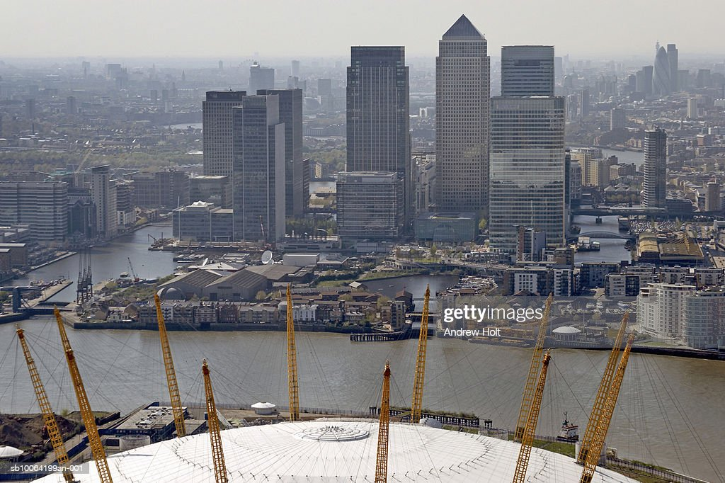 Millennium Dome and Canary wharf