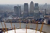 Millennium Dome and Canary wharf
