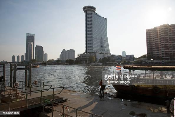 Millennium Hilton hotel on Chao Phraya river Bangkok Thailand