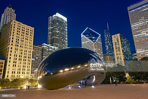 Millennium Park at night in Chicago