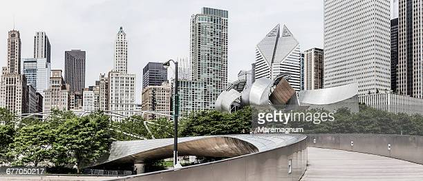 Millennium Park, the BP Bridge by Frank Gehry
