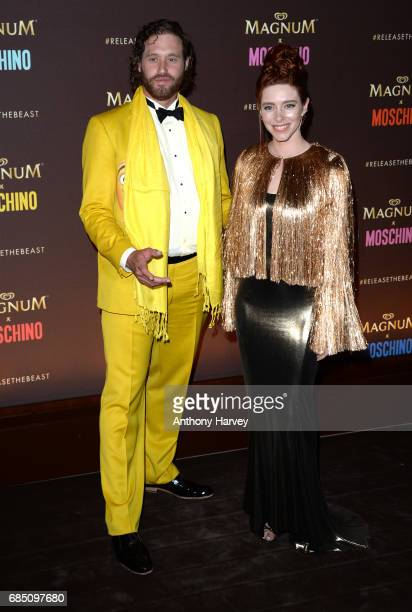Miller and Kate Gorney attend the Magnum party during the 70th annual Cannes Film Festival at Magnum Beach on May 18 2017 in Cannes France