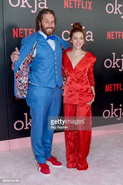 Miller and Kate Gorney attend the New York premiere of 'Okja' at AMC Lincoln Square Theater on June 8 2017 in New York City