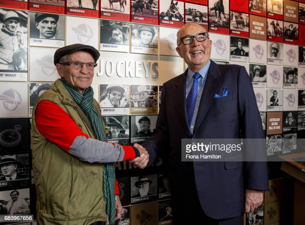JJ Miller and Lloyd Williams at National Sports Museum on May 17 2017 in Melbourne Australia