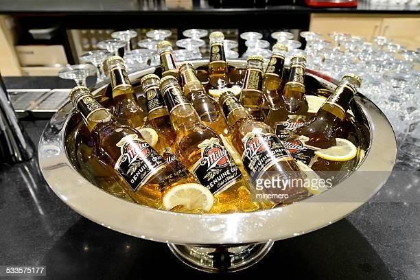 Miller Genuine Draft  bottles