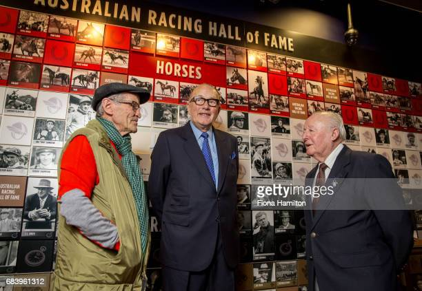 JJ Miller Lloyd Williams and Ron Hutchinson at National Sports Museum on May 17 2017 in Melbourne Australia