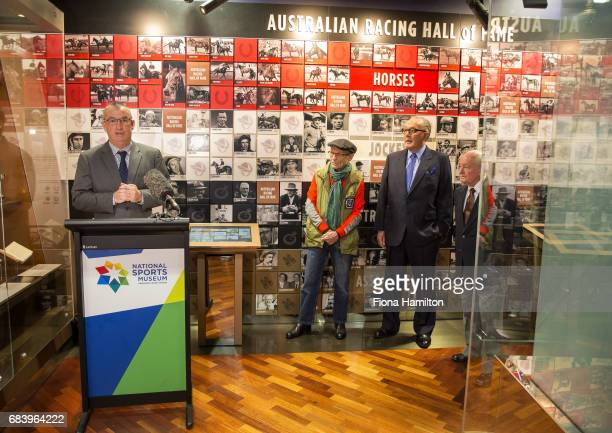 JJ Miller Lloyd Williams Ron Hutchinson and Greg Carpenter at National Sports Museum on May 17 2017 in Melbourne Australia