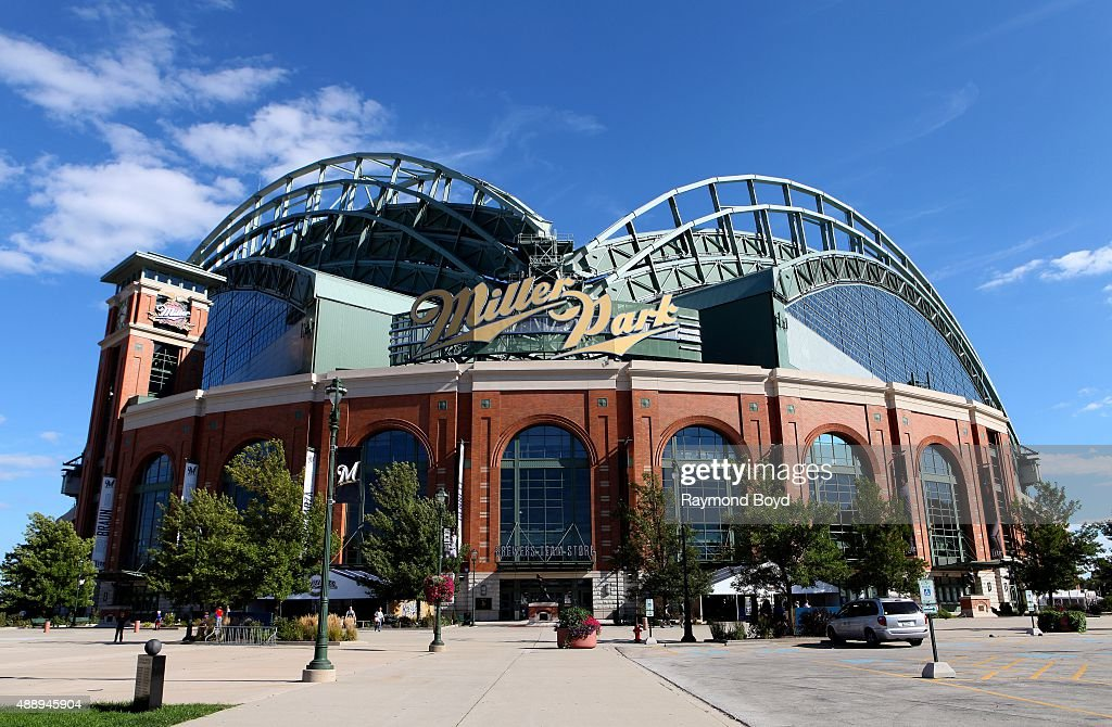 Miller Park home of the Milwaukee Brewers baseball team on September 13 2015 in Milwaukee Wisconsin