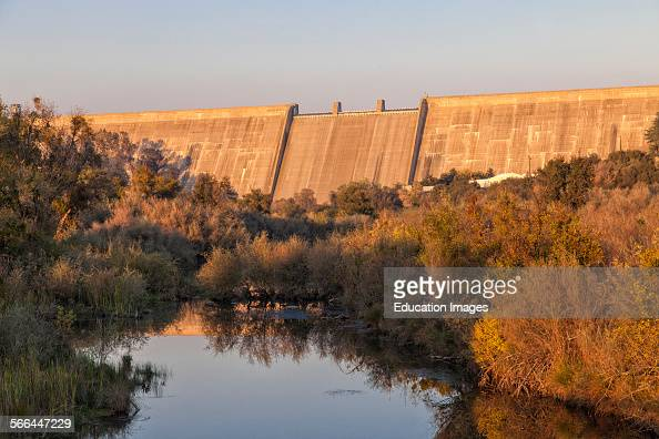 Millerton Lake and Friant Dam north of Fresno and part of the Central Valley Project reservoir stores water for irrigation in the San Joachin Valley...