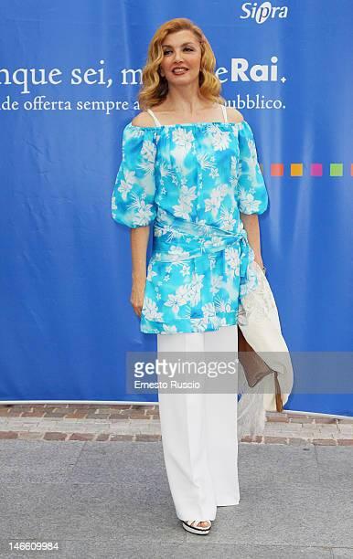Milli Carlucci attends the Palinsesti Rai photocall at Cavalieri Hilton Hotel on June 20 2012 in Rome Italy