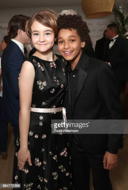 Millicent Simmonds and Jaden Michael attend the 'Wonderstruck' Cannes After Party on May 18 2017 in Cannes
