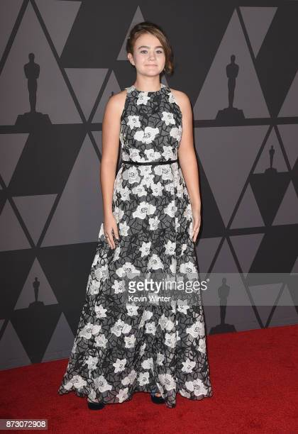 Millicent Simmonds attends the Academy of Motion Picture Arts and Sciences' 9th Annual Governors Awards at The Ray Dolby Ballroom at Hollywood...