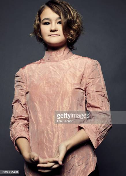 Millicent Simmonds from 'Wonderstruck' poses for a portrait at the 55th New York Film Festival on October 7 2017