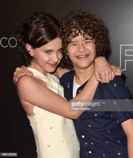 Millie Bobby Brown and Gaten Matarazzo attend Netflix's 'Stranger Things' For Your Consideration event at Netflix FYSee Space on June 6 2017 in...