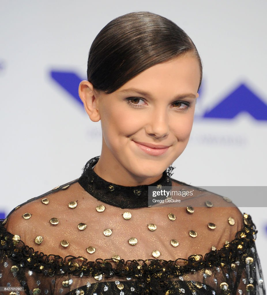 Millie Bobby Brown arrives at the 2017 MTV Video Music Awards at The Forum on August 27, 2017 in Inglewood, California.