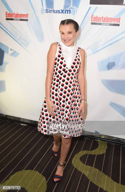 Millie Bobby Brown attends SiriusXM's Entertainment Weekly Radio Channel Broadcasts From Comic Con 2017 at Hard Rock Hotel San Diego on July 22 2017...