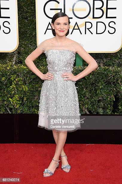 Millie Bobby Brown attends the 74th Annual Golden Globe Awards at The Beverly Hilton Hotel on January 8 2017 in Beverly Hills California