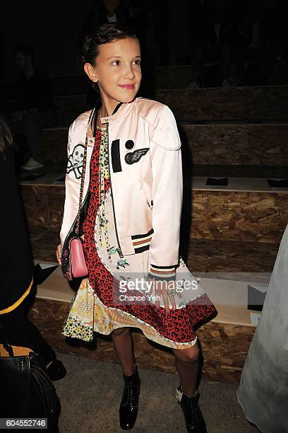 Millie Bobby Brown attends the Coach 1941 Women's Spring 2017 Show at Pier 76 on September 13 2016 in New York City