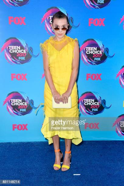 Millie Bobby Brown attends the Teen Choice Awards 2017 at Galen Center on August 13 2017 in Los Angeles California