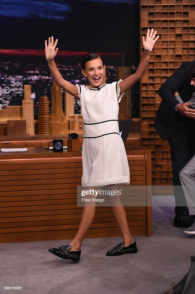 Millie Bobby Brown visits 'The Tonight Show Starring Jimmy Fallon' at Rockefeller Center on August 31, 2016 in New York City.