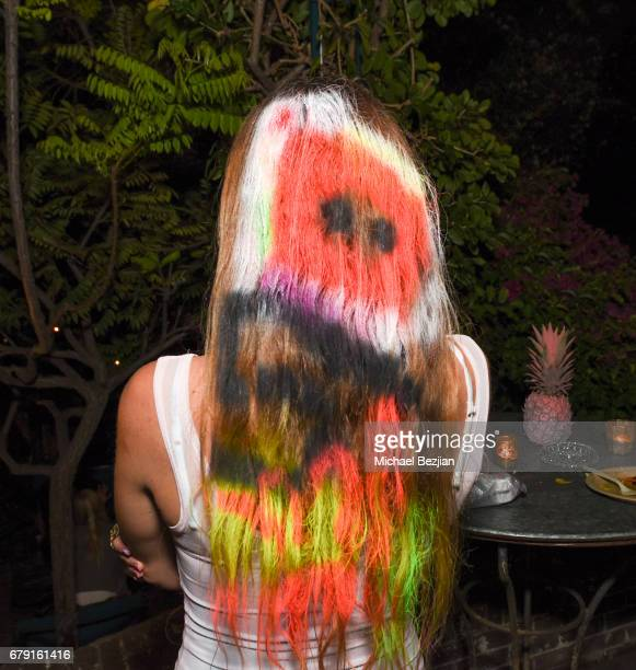 Millie Brown poses for photo at Millie Brown's Rainbow Bodied Cocktail Event at the Private Residence of Jonas Tahlin CEO Absolut Elyx on May 4 2017...