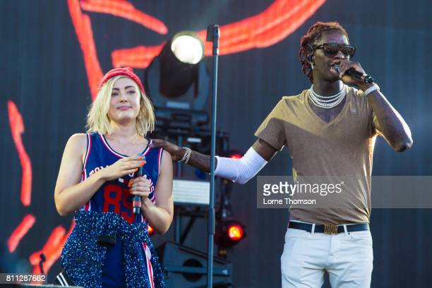 Millie Go Lightly and Young Thug perform at Wireless Festival Day 2 at Finsbury Park on July 8 2017 in London England