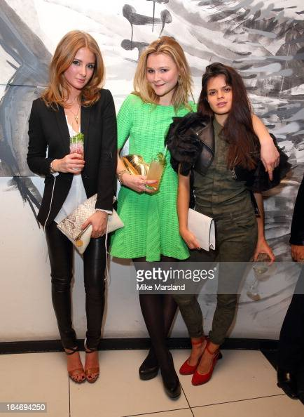 Millie Mackintosh Amber Atherton and Bip Ling attend Esquire's Little Black Book party at Sushi Samba on March 26 2013 in London England