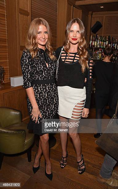 Millie Mackintosh and Alicia Rountree attend a cocktail reception hosted by Giles Deacon to celebrate the launch of the Giles/EDITION collection for...