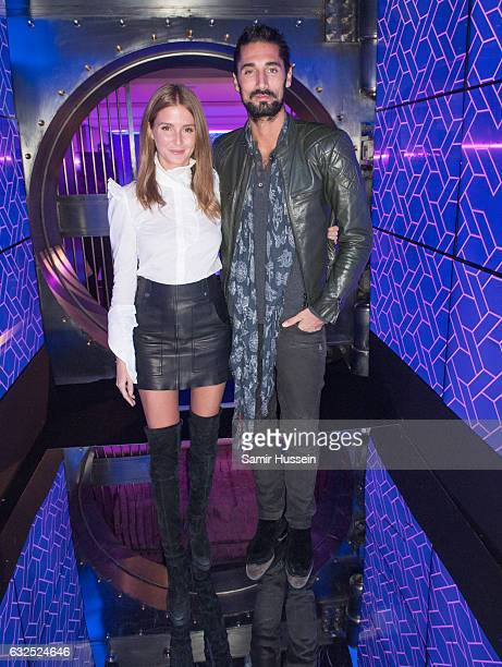 Millie Mackintosh and Hugo Taylor attend the RalphRusso Haute Couture After Party Spring Summer 2017 show as part of Paris Fashion Week on January 23...
