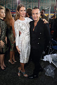 Millie Mackintosh and Julien MacDonald attend the Julien Macdonald show during London Fashion Week Spring/Summer 2016/17 on September 19 2015 in...