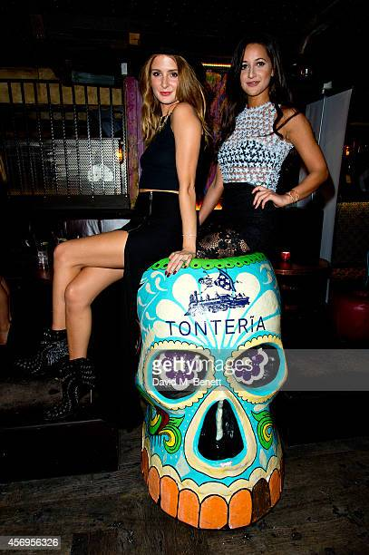 Millie Mackintosh and Roxie Nafousi attend the Loveday London Lingerie party at Tonteria on October 9 2014 in London England