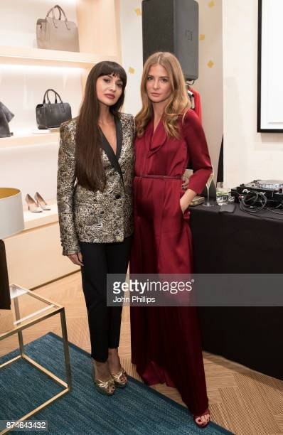 Millie Mackintosh and Zara Martin attend New Flagship Store Opening of Luxury Fashion Brand ESCADA on Sloane Street on November 15 2017 in London...