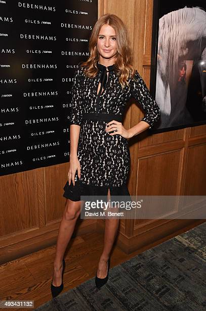 Millie Mackintosh attends a cocktail reception hosted by Giles Deacon to celebrate the launch of the Giles/EDITION collection for Debenhams at The...