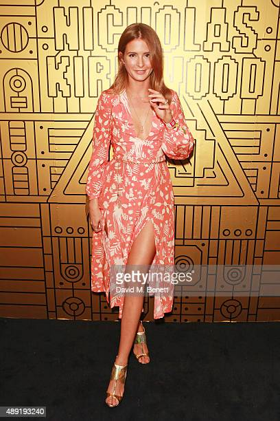 Millie Mackintosh attends Nicholas Kirkwood 10 year collection Launch and Party during London Fashion Week on September 19 2015 in London England